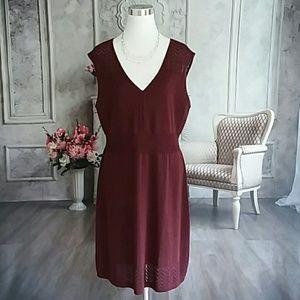 Apt. 9 Women's Dress Wine Metallic Red Size XL